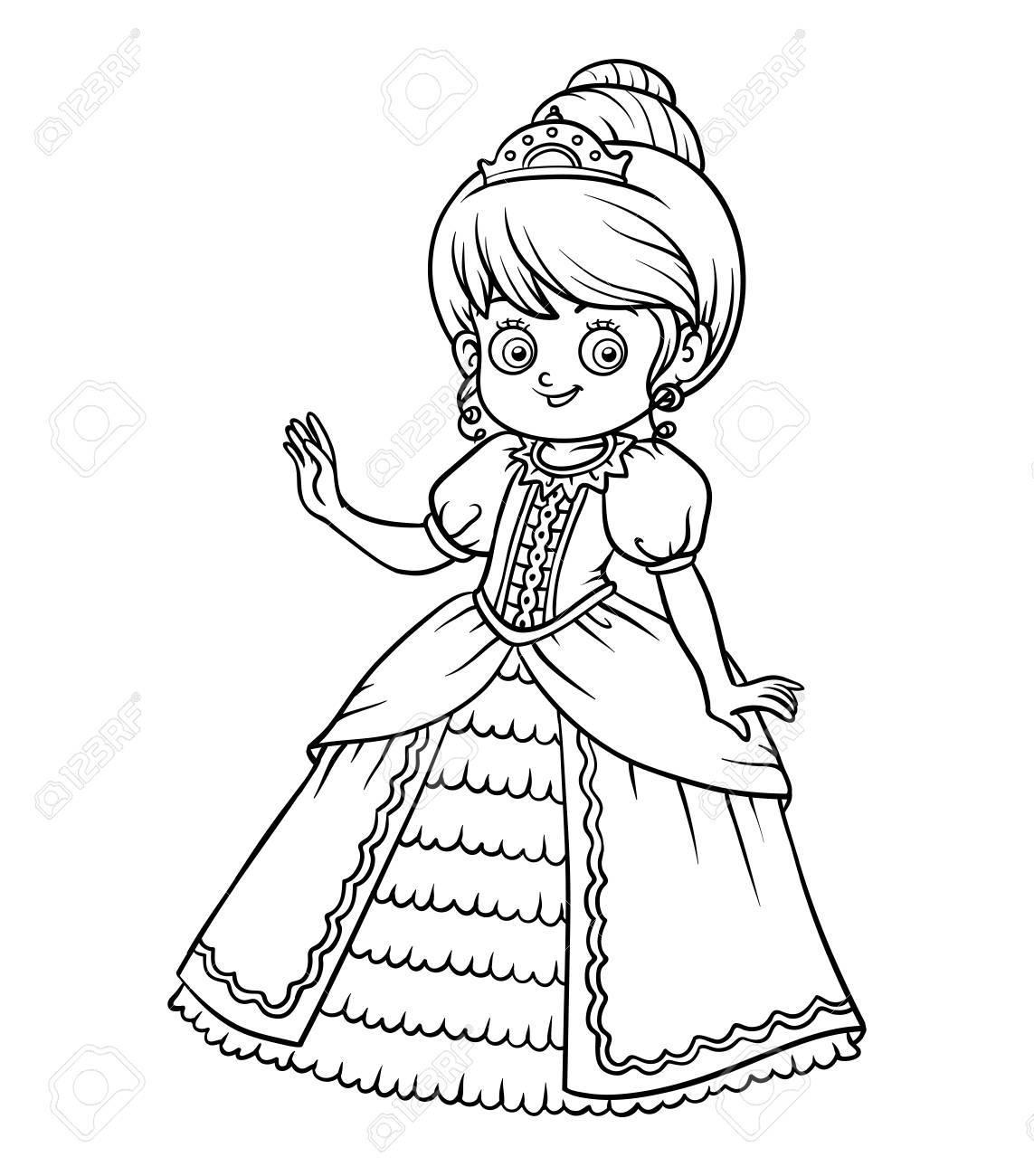 Dibujo Para Colorear Para Niños, Personaje De Dibujos Animados ...