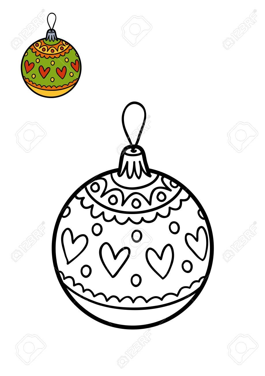 Libro Da Colorare Per Bambini Giocattolo Dell Albero Di Natale Palla Di Natale