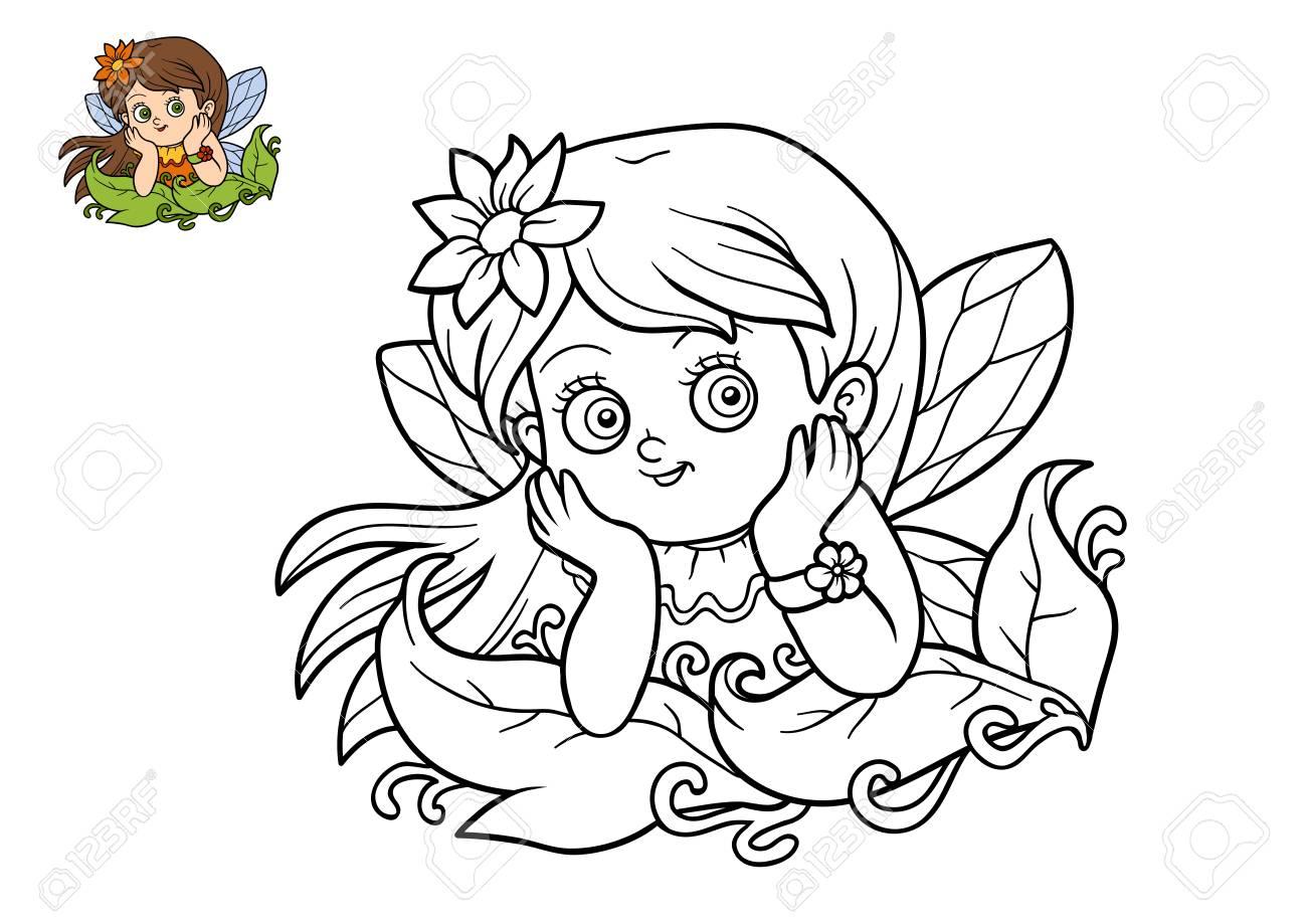 Livre De Coloriage Pour Enfants Fille De Fee Banque D Images Et Photos Libres De Droits Image 70382170