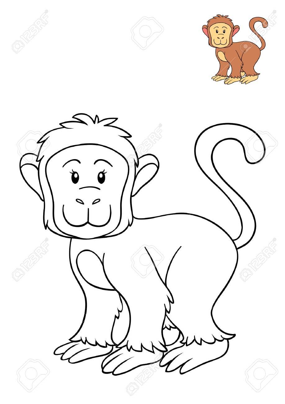 Großartig Affe Malvorlagen Zeitgenössisch - Beispielzusammenfassung ...