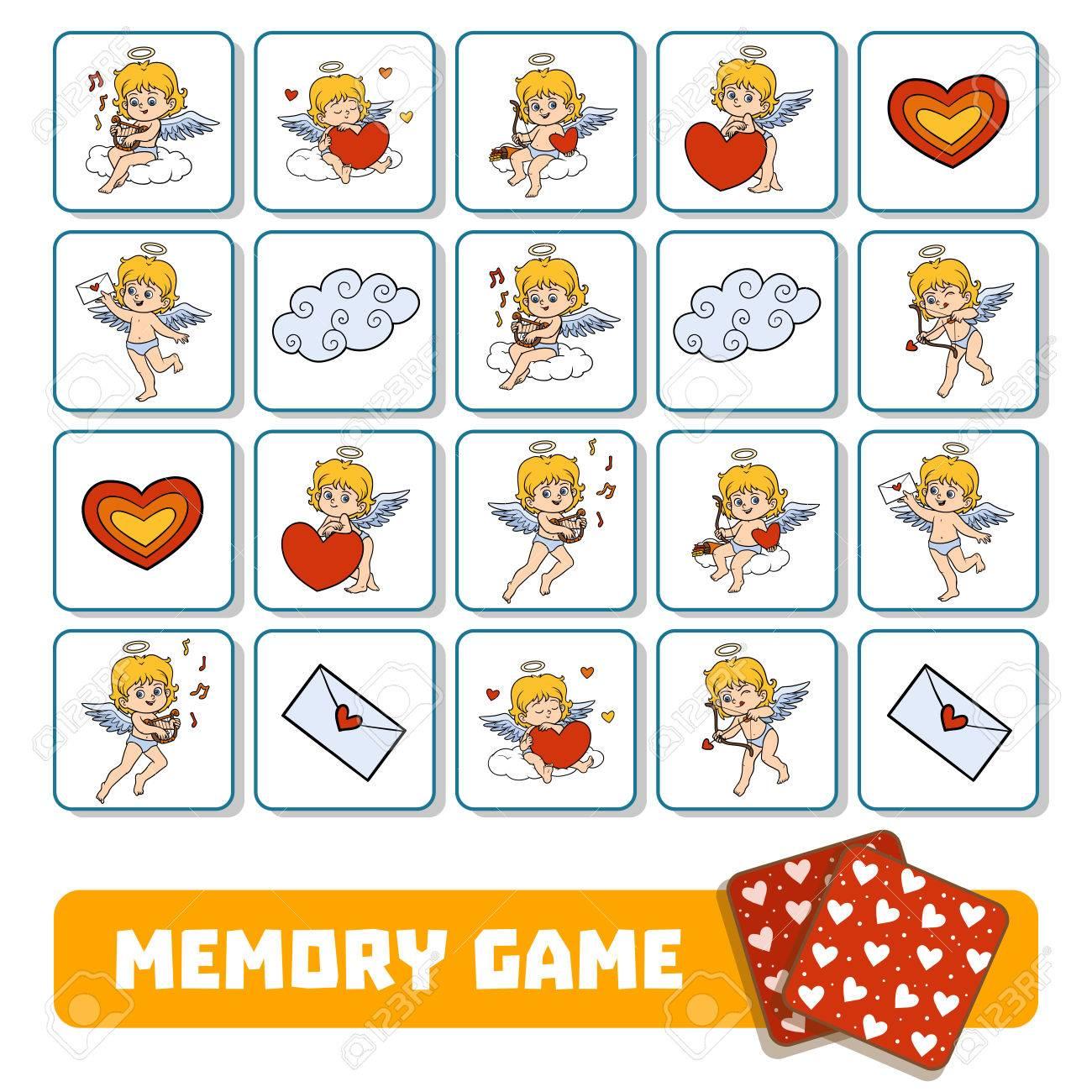 Juego De Memoria Para Ninos En Edad Preescolar Cartas Vectoriales