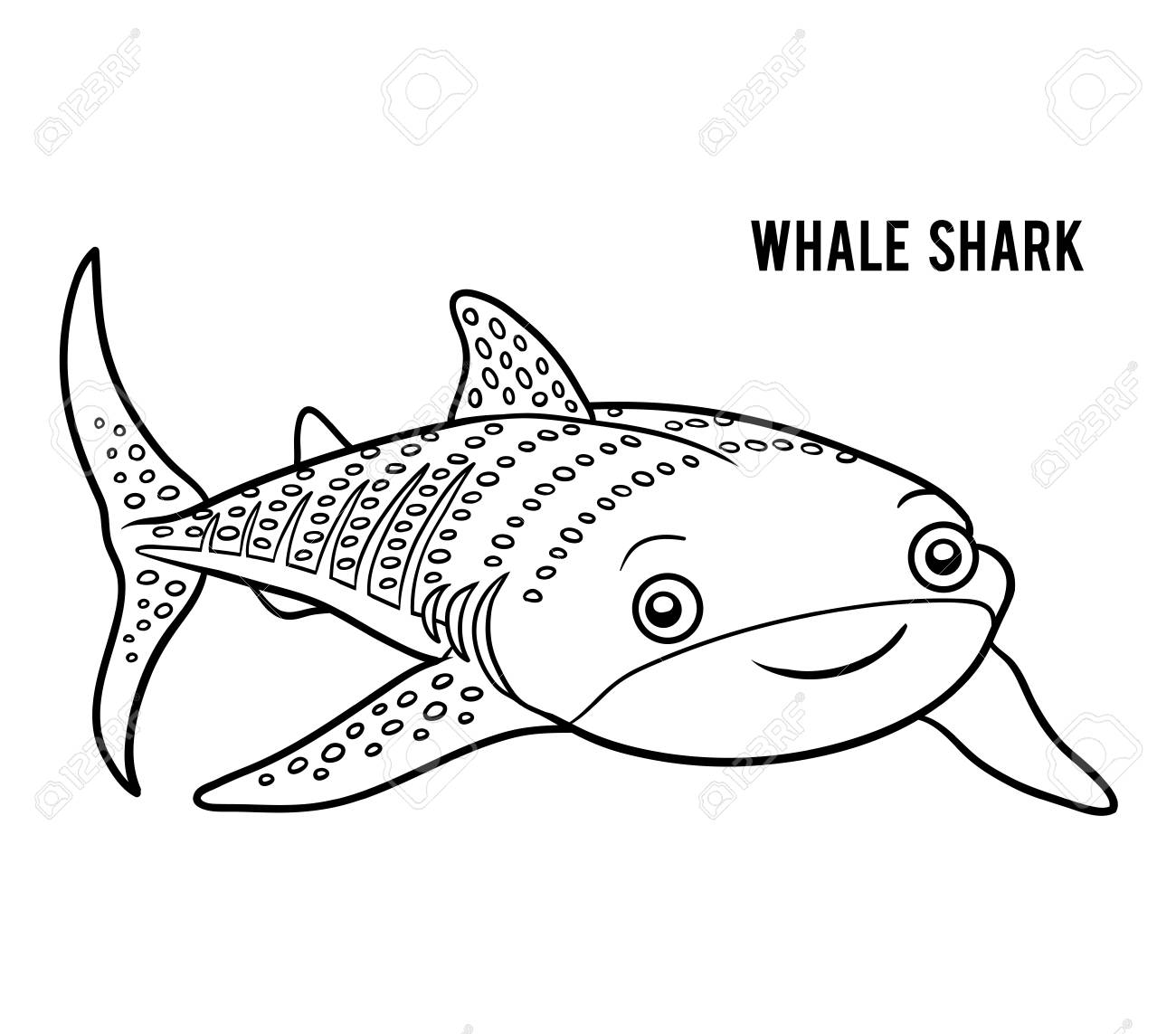 Coloring Book For Children, Whale Shark Royalty Free Cliparts ...