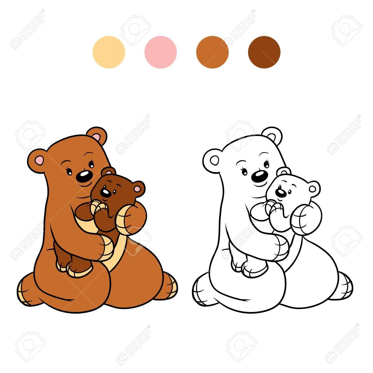 Dibujo Para Colorear Para Niños Familia De Osos