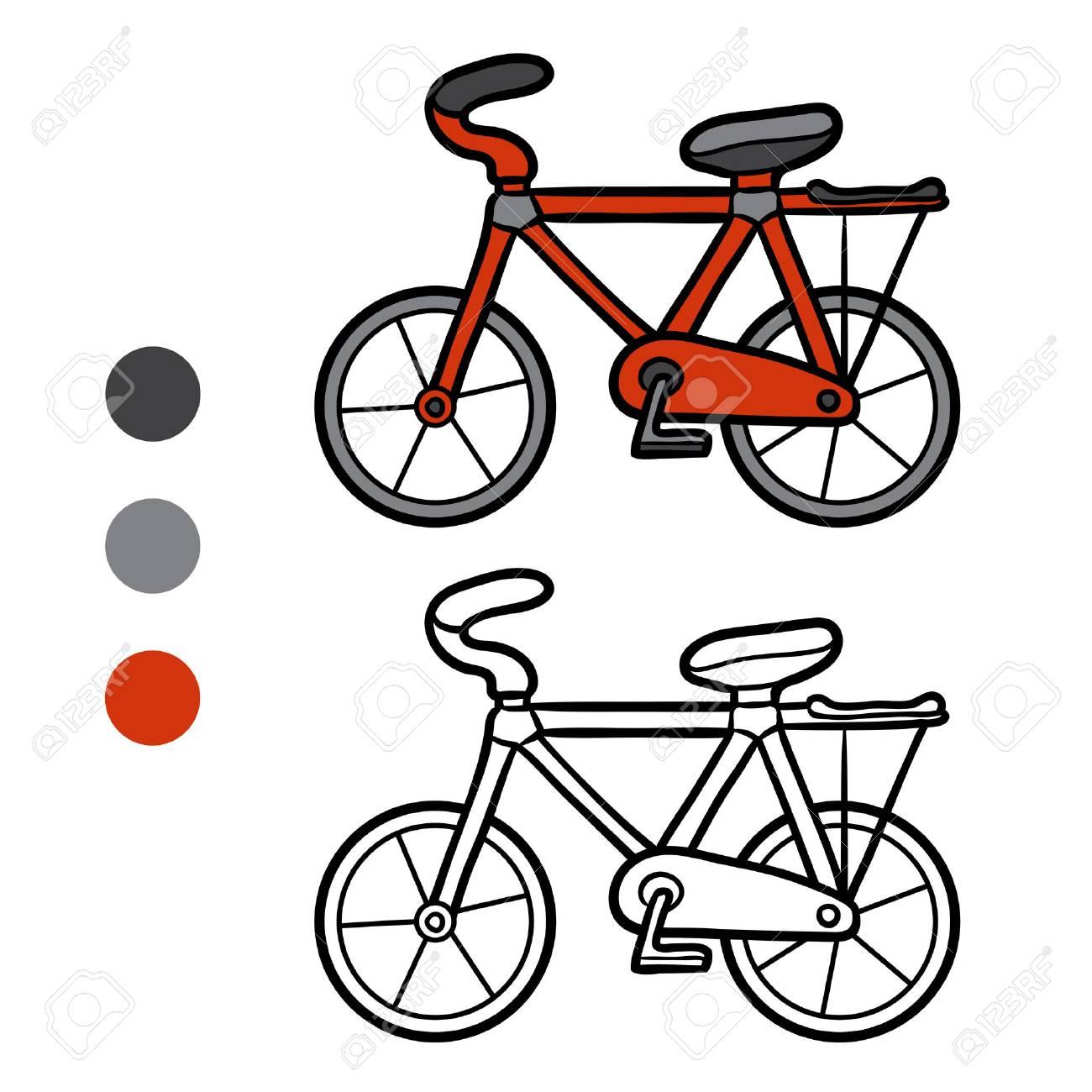 Dibujo Para Colorear Para Niños Bicicleta Ilustraciones Vectoriales