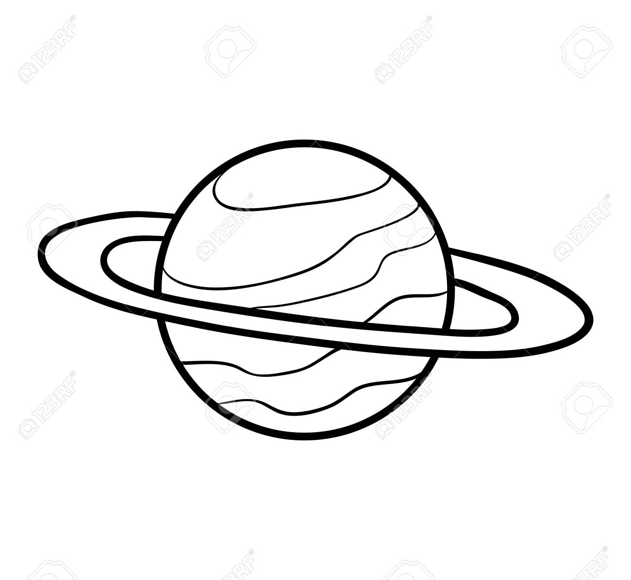 Coloring book for children saturn stock vector 79471235