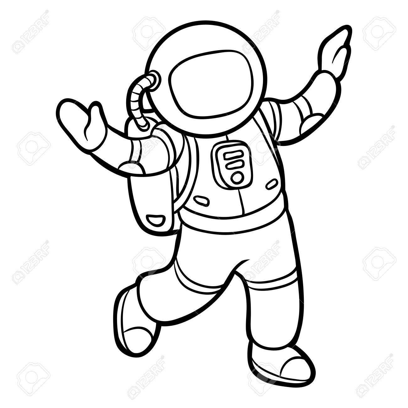 Dibujo Para Colorear Para Niños, Astronauta Ilustraciones