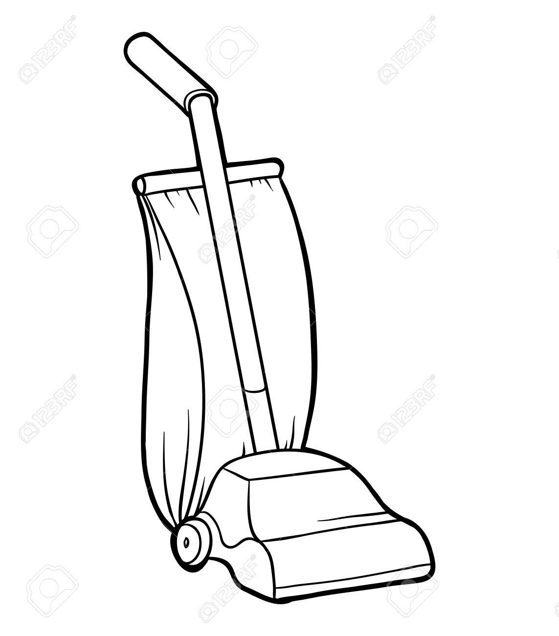 Coloring Book For Children Vacuum Cleaner Stock Vector