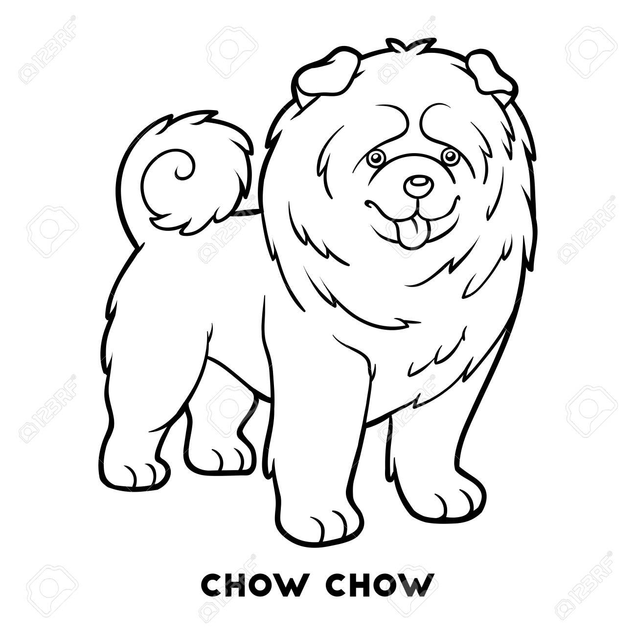 Libro De Colorear Para Niños Razas De Perros Chow Chow