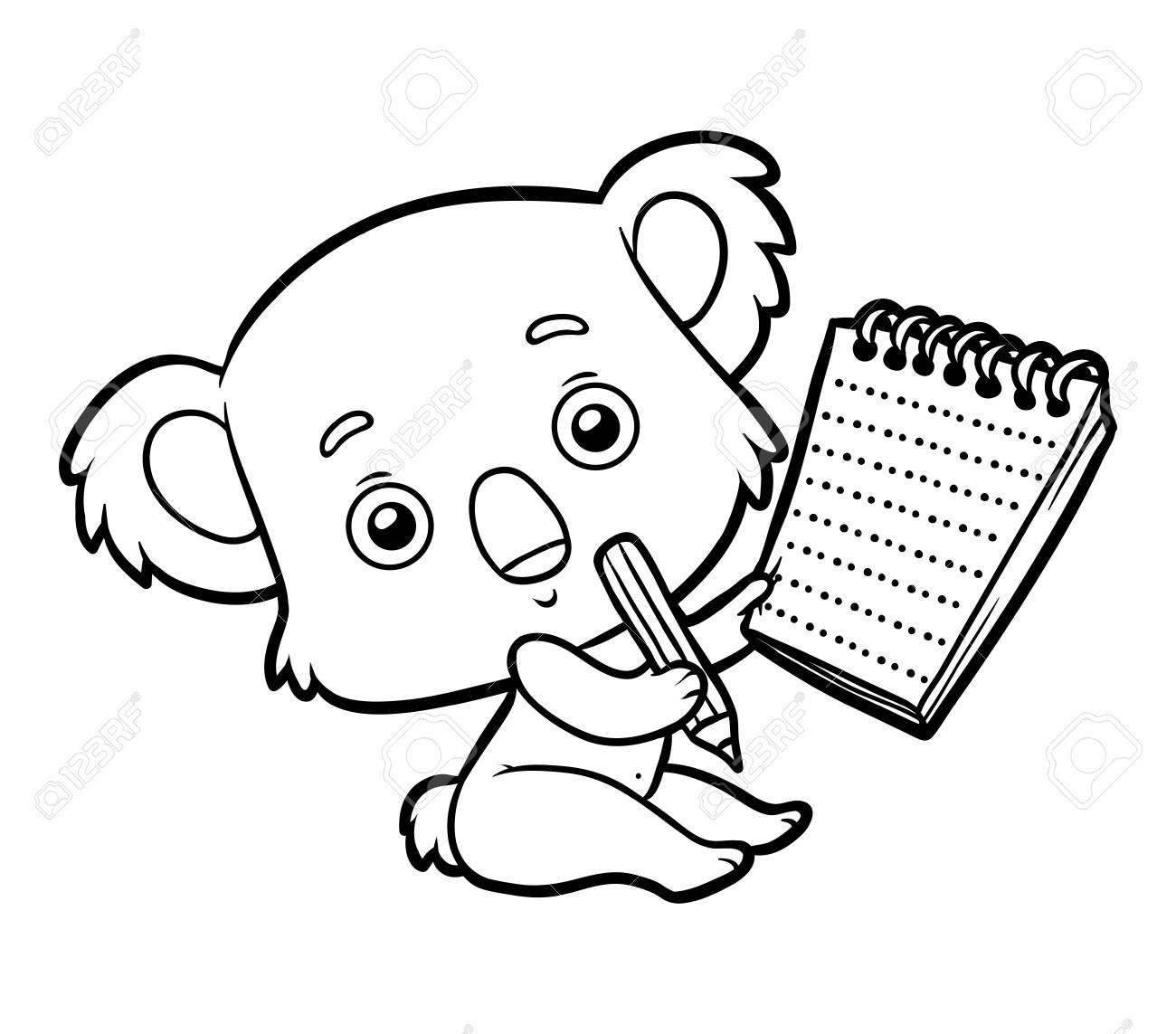 Dibujo Para Colorear Para Niños Koala