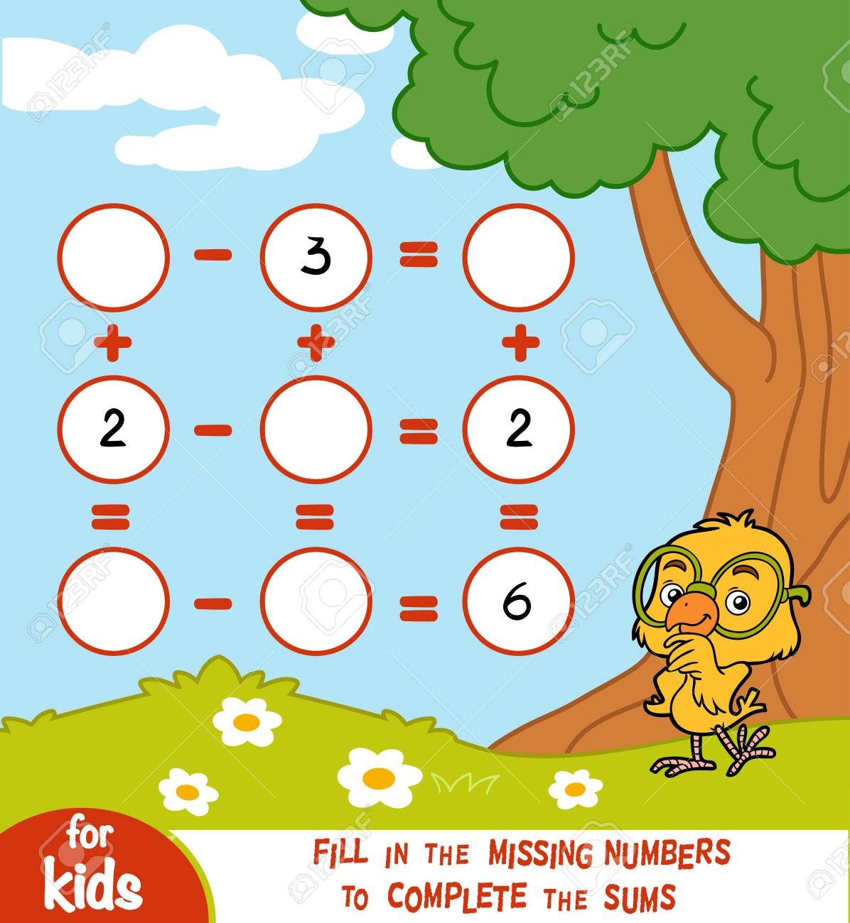 Counting Game for Preschool Children. Educational a mathematical game. - 94695799