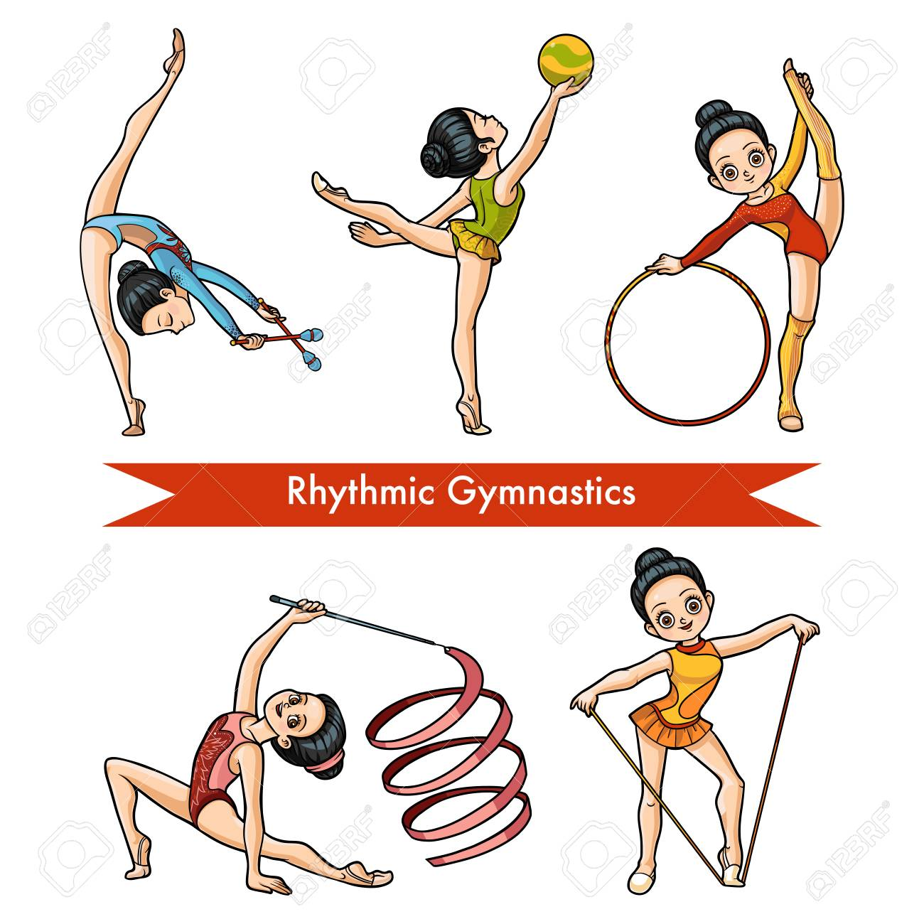 Image result for rhythmic gymnastics cartoon