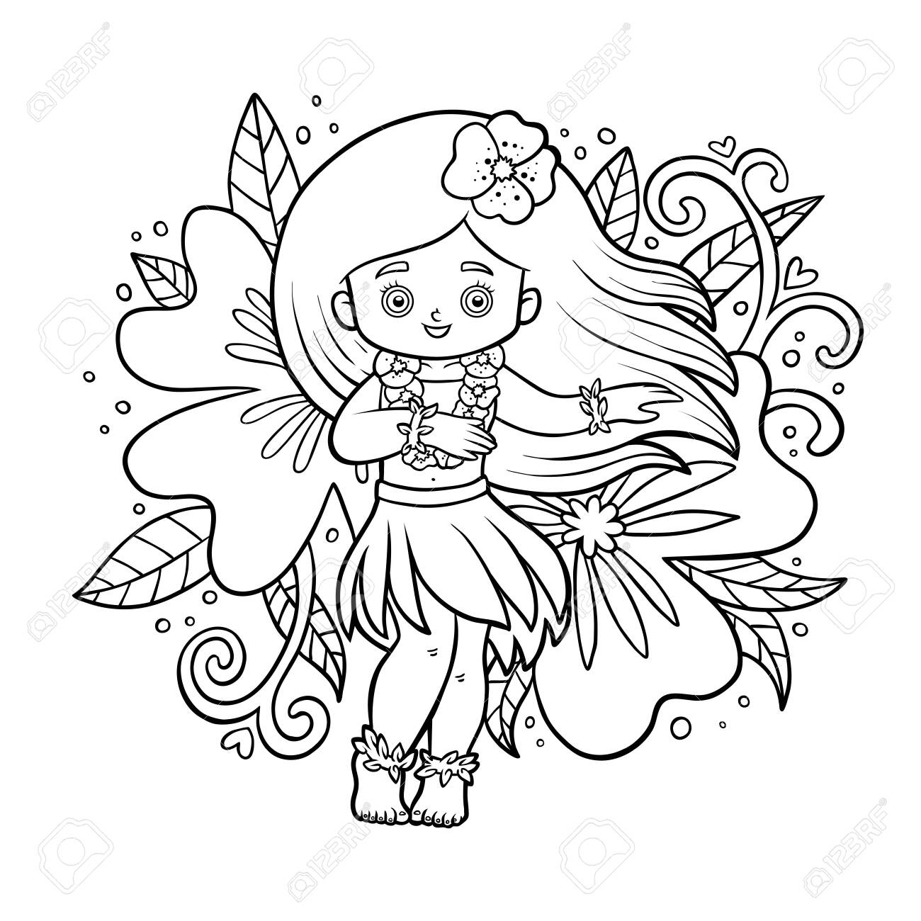 Free hula dancers coloring pages | Coloring pages, Free coloring ... | 1300x1300