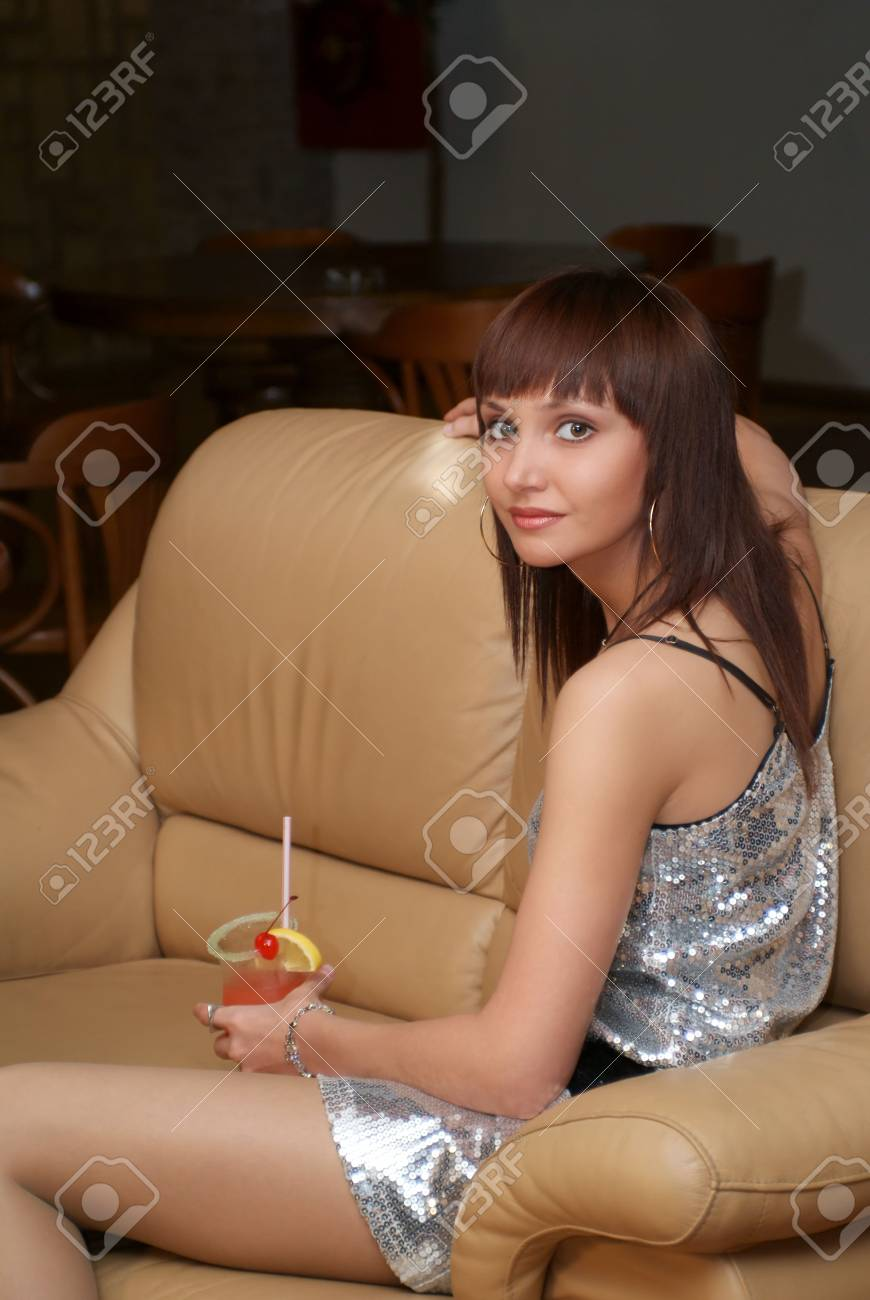 Woman with cocktail Stock Photo - 3629591