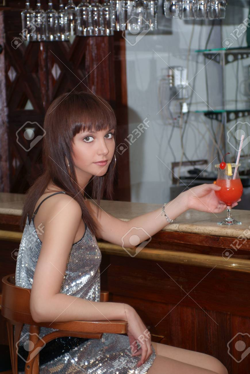 Woman with cocktail Stock Photo - 3629597