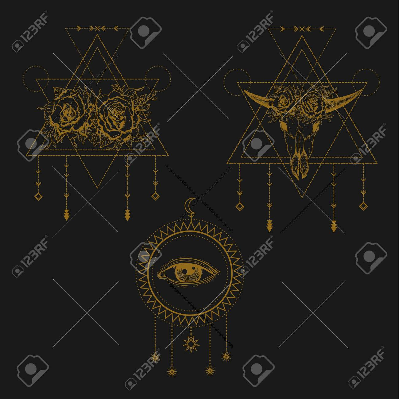 All seeing eye symbol sacred geometry third eye buffalo skull all seeing eye symbol sacred geometry third eye buffalo skull roses buycottarizona