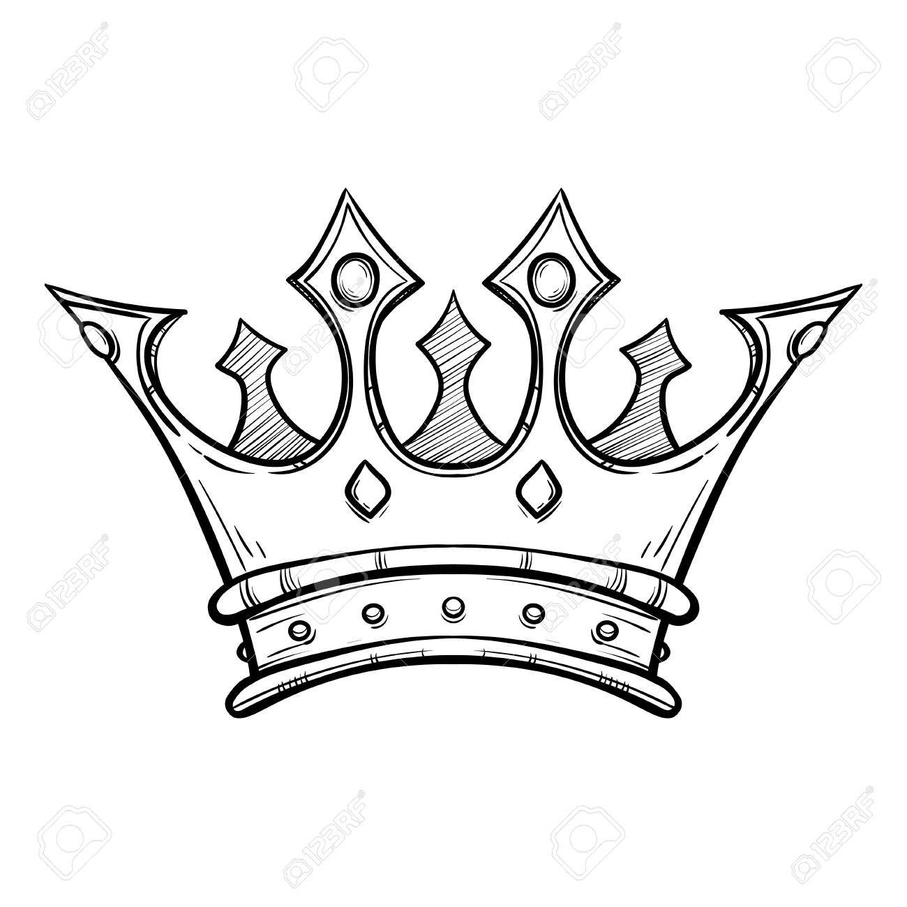 Hand drawn king crown royalty free cliparts vectors and stock hand drawn king crown stock vector 88393041 thecheapjerseys Choice Image