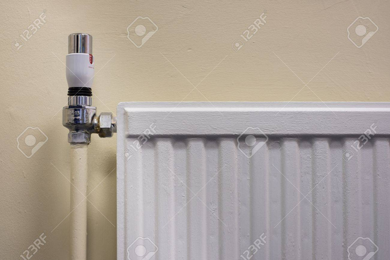 Thermostat On A Radiator As Part Of Gas Central Heating System Stock ...