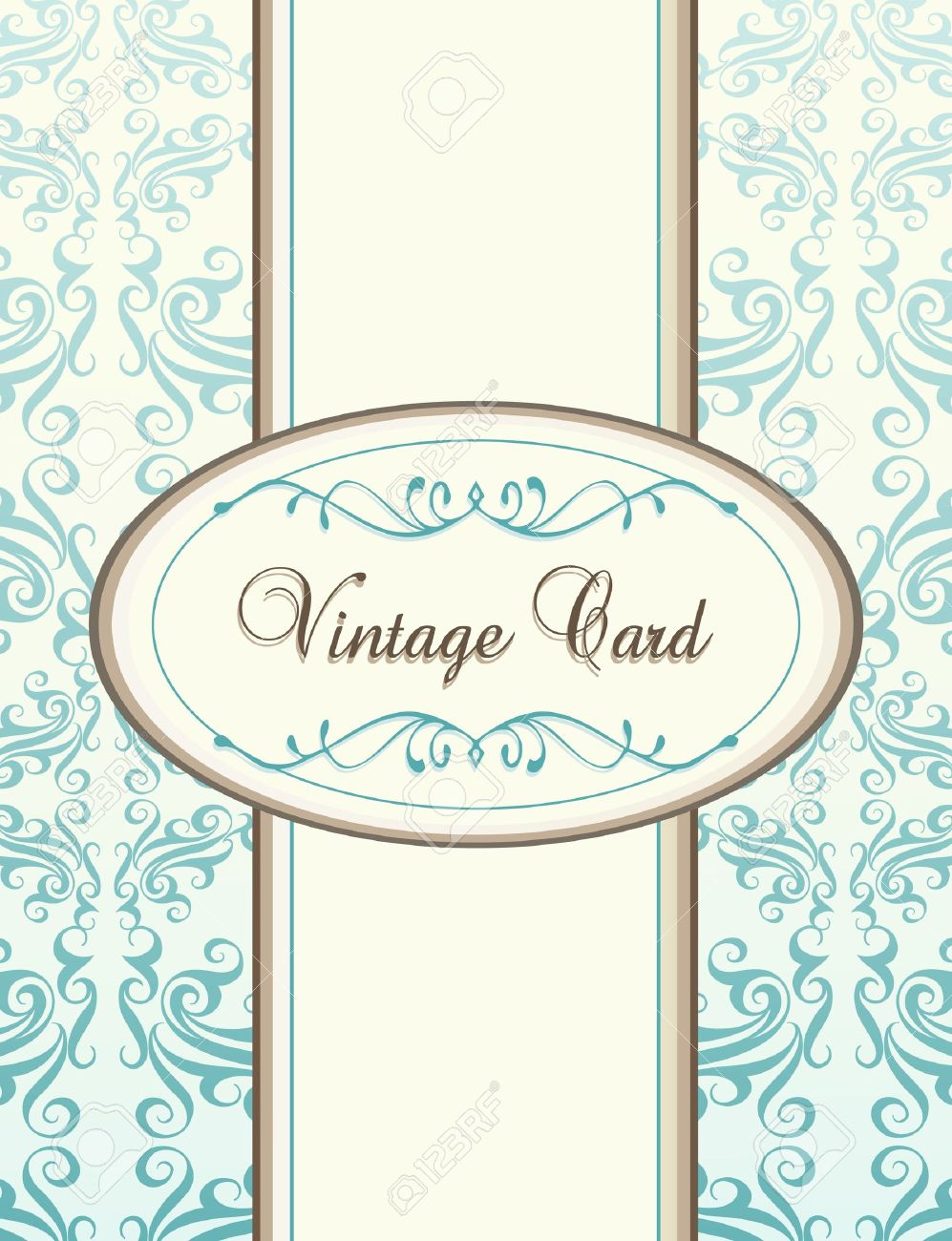 Vintage Blue Vector Background Card Or Book Cover Royalty Free ...