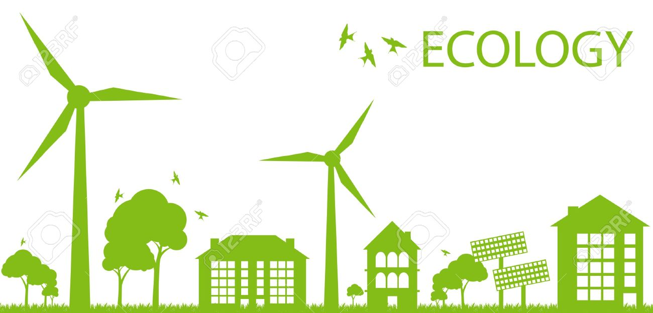 Green Eco city ecology background concept Stock Vector - 10493173