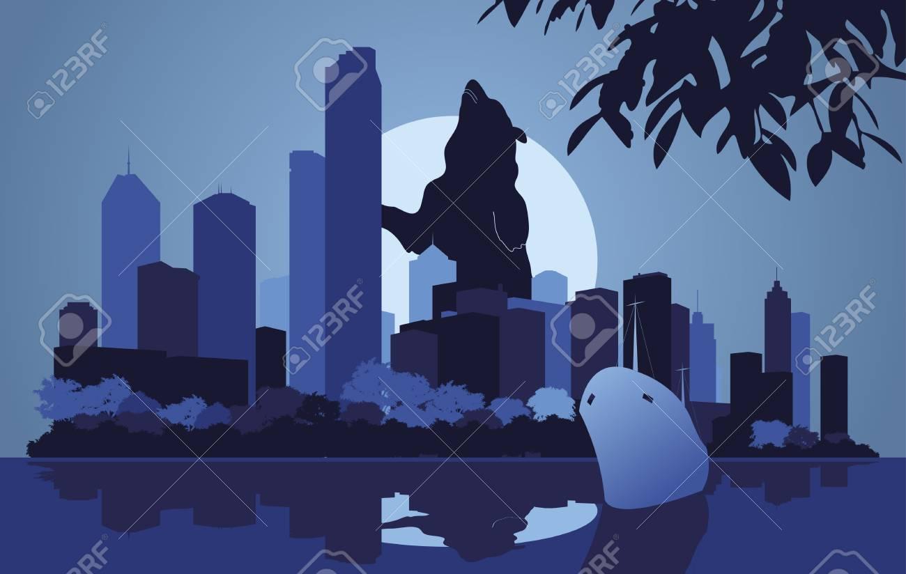 Skyscraper city landscape illustration Stock Vector - 10565755