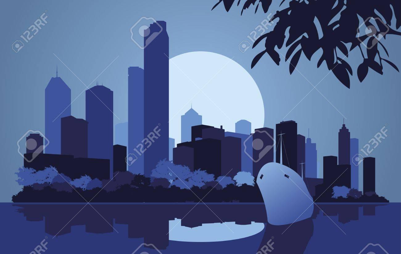 Skyscraper city landscape illustration Stock Vector - 10565752
