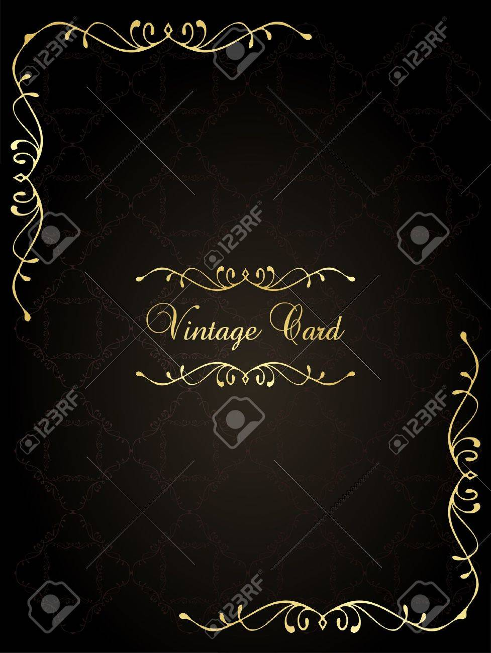 Luxury golden vintage background Stock Vector - 10553859