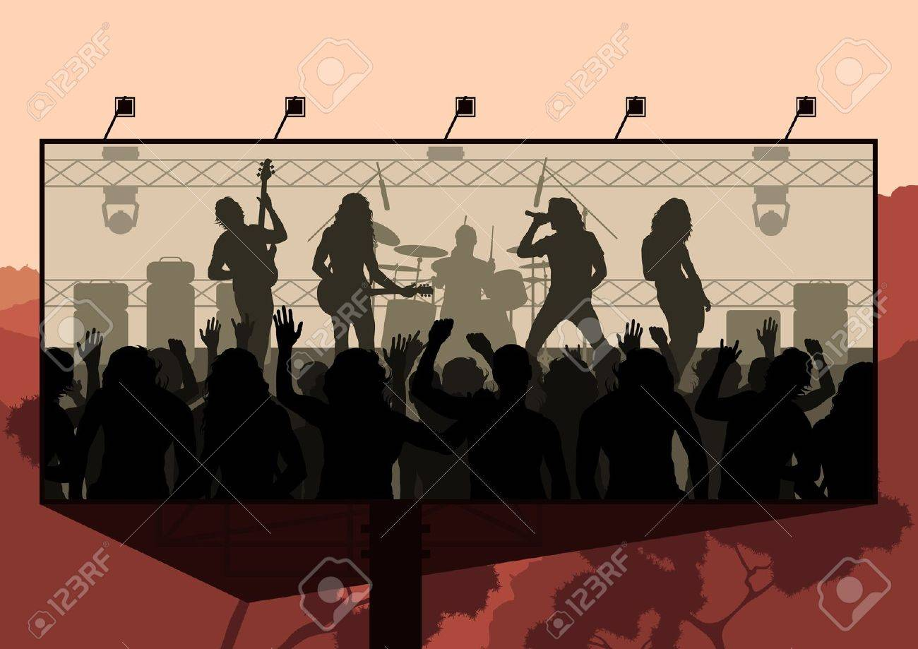 Pics photos rock concert background - Rock Concert Advertisement Background Illustration Stock Vector 11058952