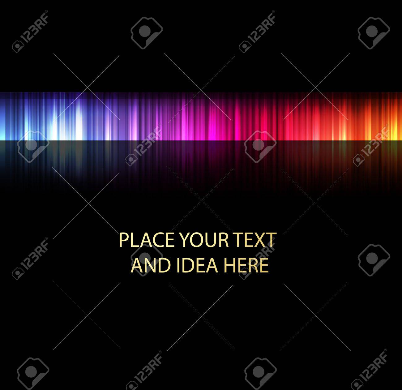 Neon abstract lines design on dark background vector Stock Vector - 11058955