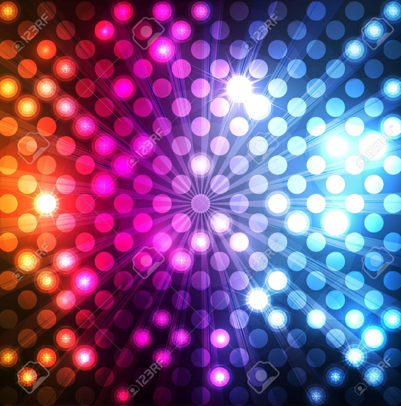 Neon abstract lines design on dark background vector Stock Vector - 11649801