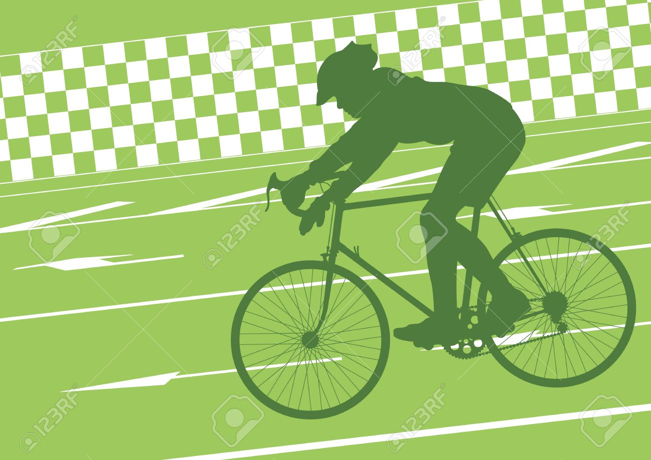 Sport road bike riders bicycle silhouettes in urban city road background illustration vector Stock Vector - 12045242