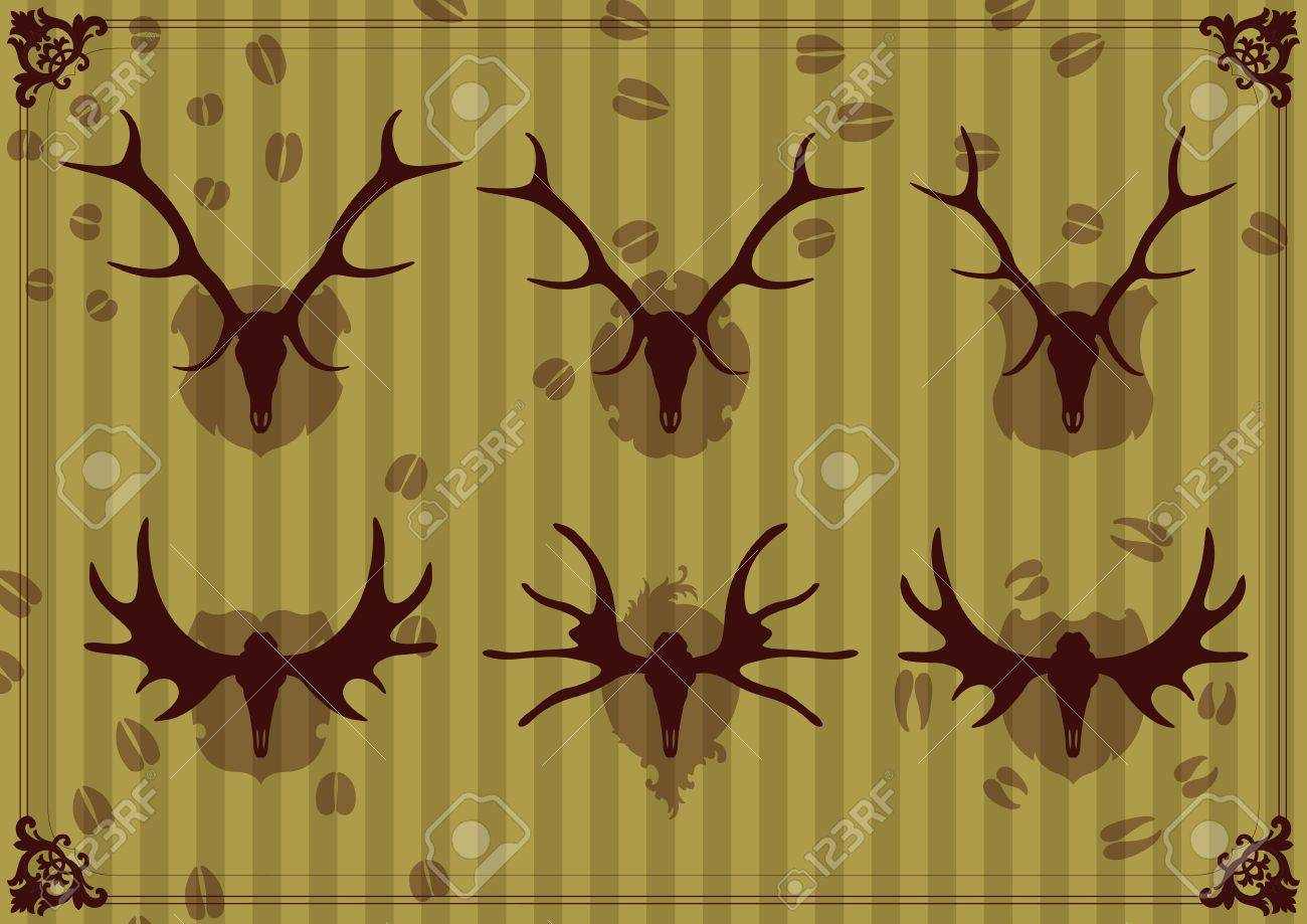 Deer horn background vector Stock Vector - 12485007