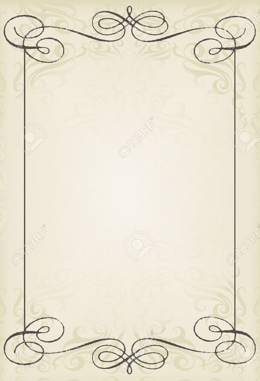 vintage wedding frame vector background card royalty free cliparts vectors and stock illustration image 12485074 vintage wedding frame vector background card