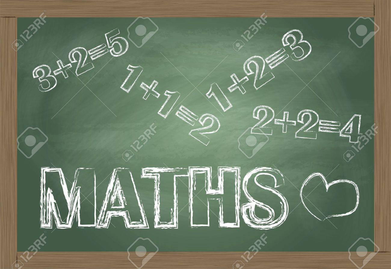 Maths blackboard vector background Stock Vector - 12931365