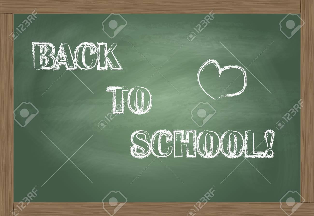 Back To School written on blackboard vector Stock Vector - 12931359