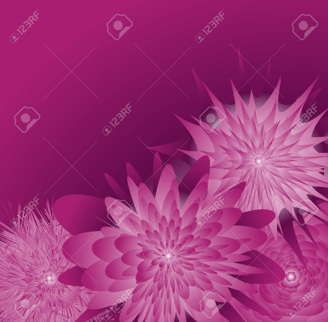 Flowers floral background for poster Stock Vector - 13412610