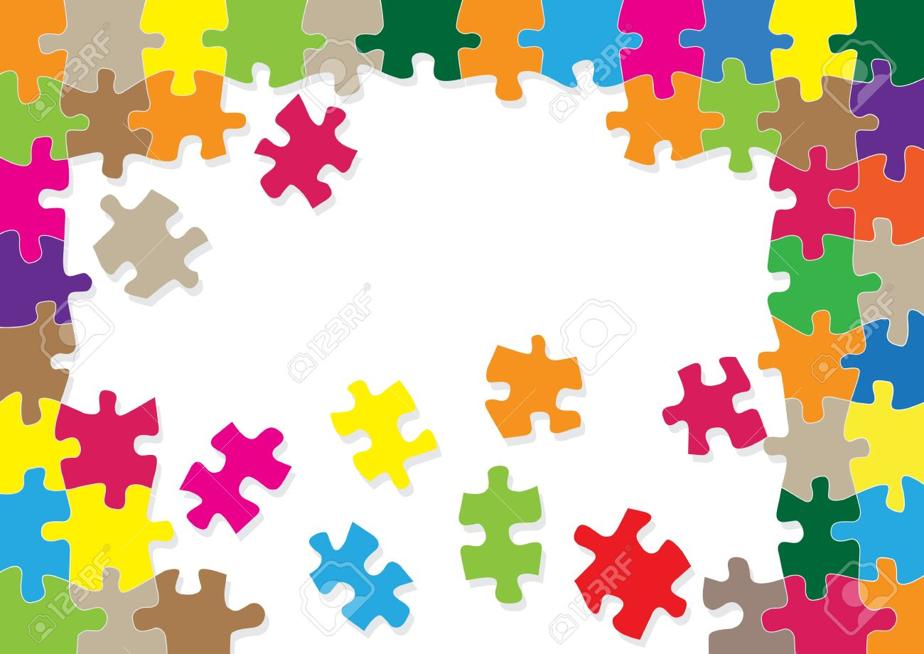colorful jigsaw puzzle background for poster royalty free cliparts