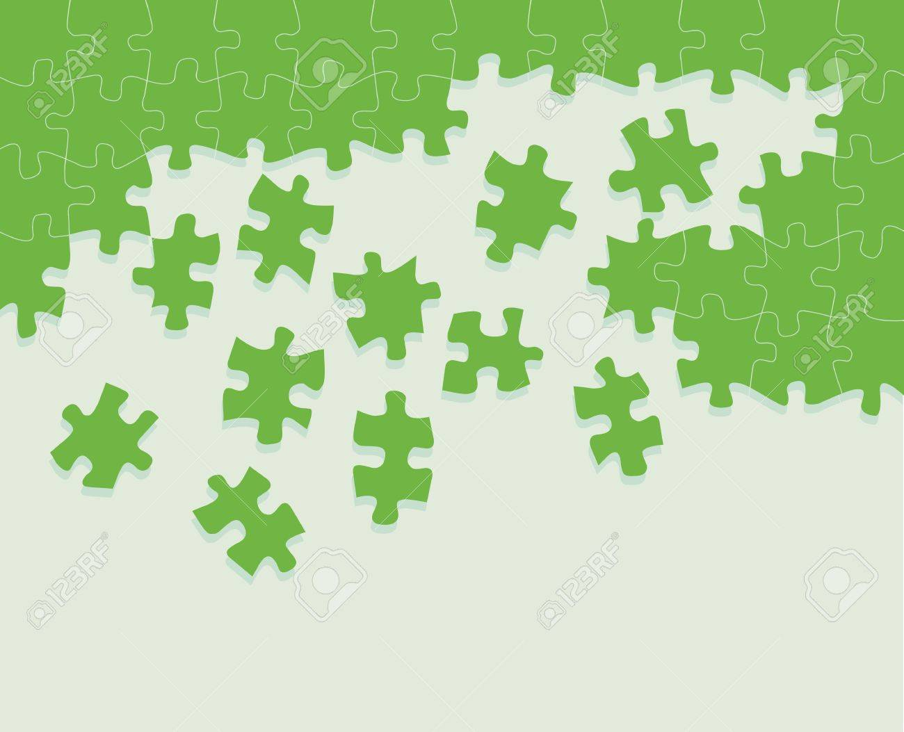 Colorful jigsaw puzzle background for poster Stock Vector - 13412276