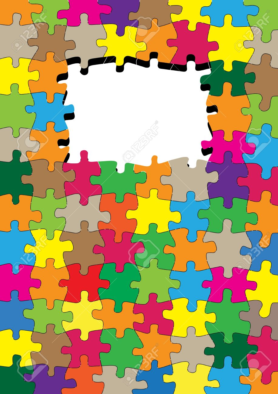 Jigsaw puzzle vector background for poster Stock Vector - 13820873