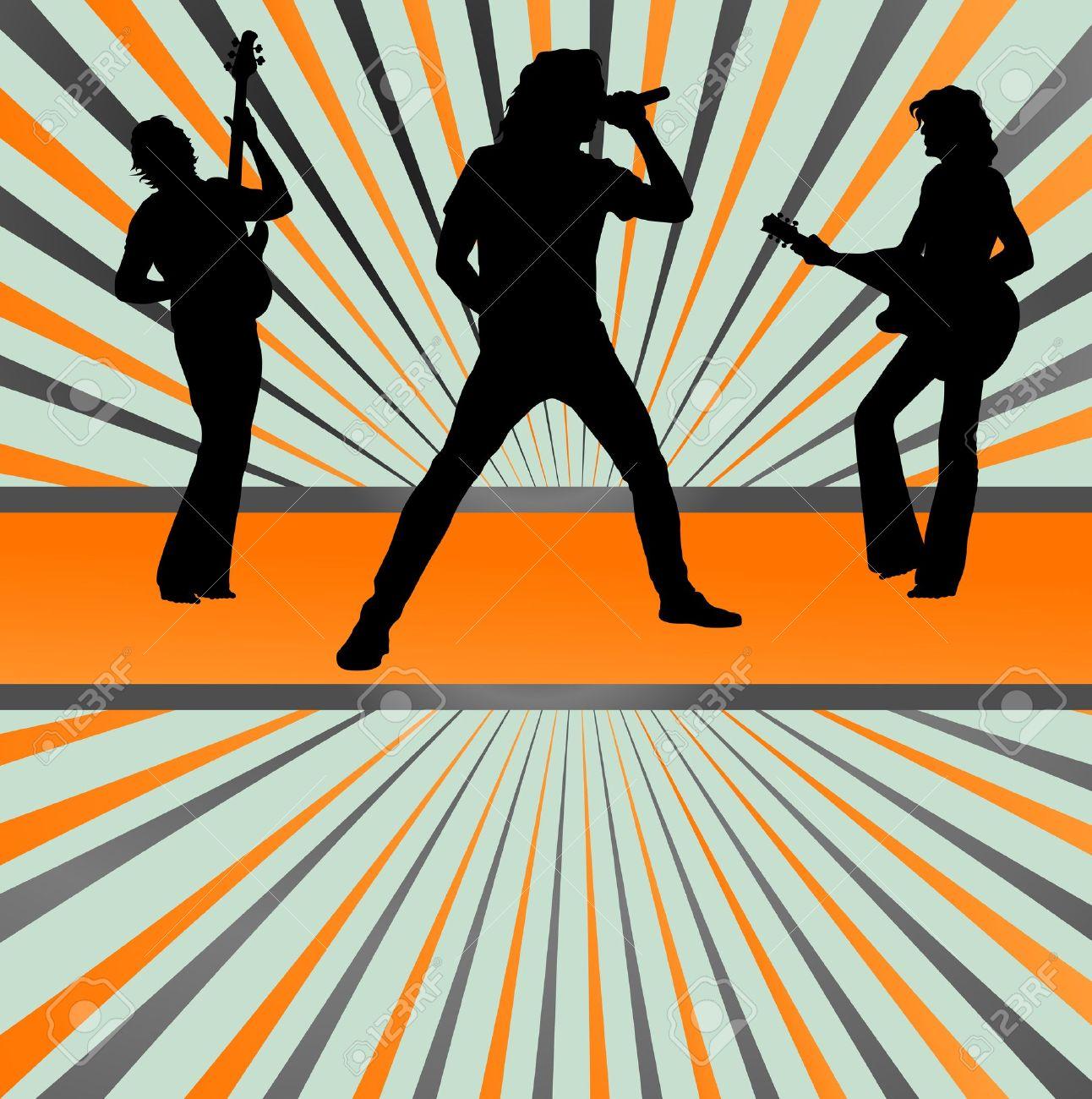Pics photos rock concert background - Rock Concert Band Burst Background Vector For Poster Stock Vector 14355894