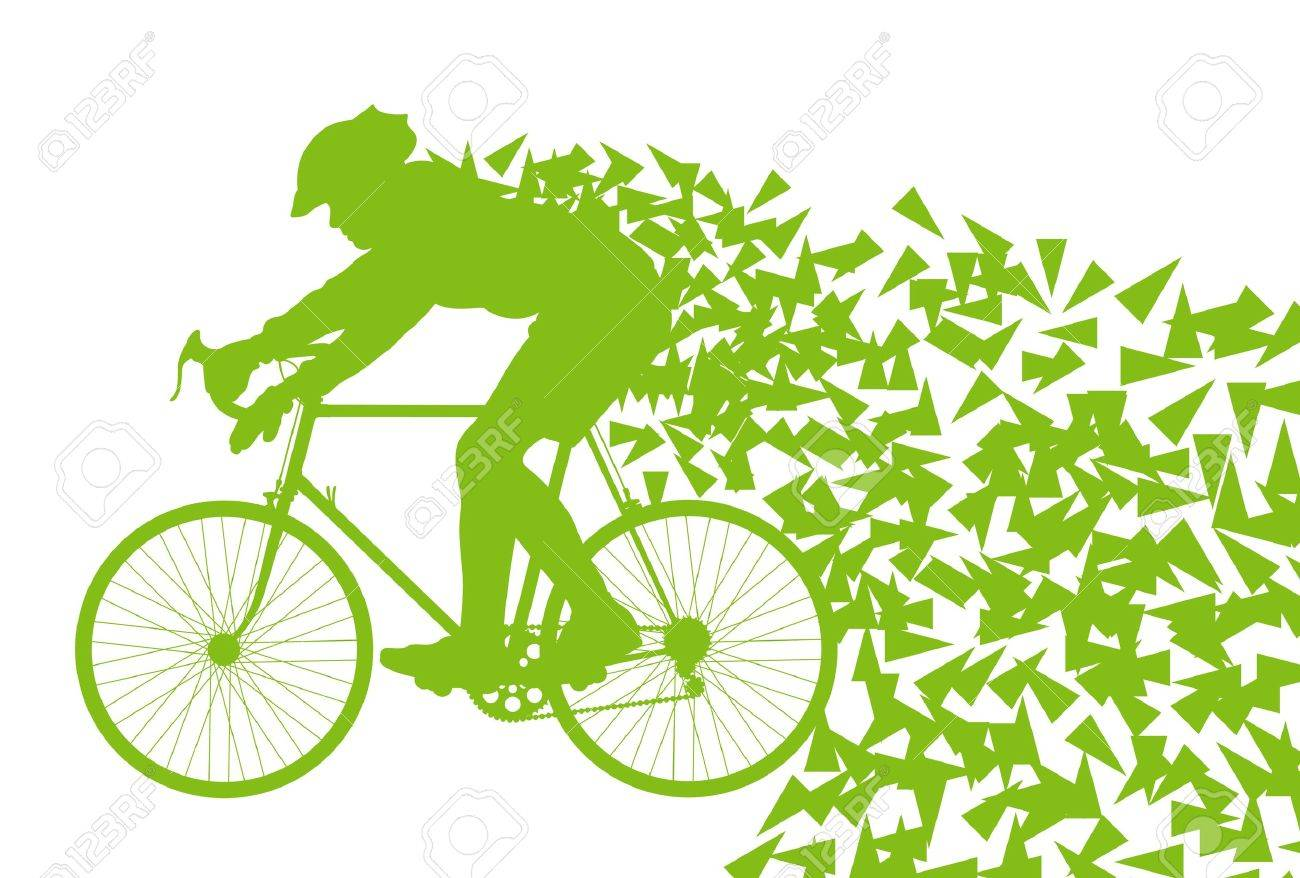 Ecology bike driving vector background concept for poster Stock Vector - 14355880
