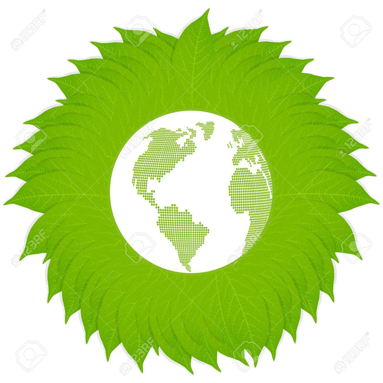 Green earth vector background concept for poster or card Stock Vector - 15272160