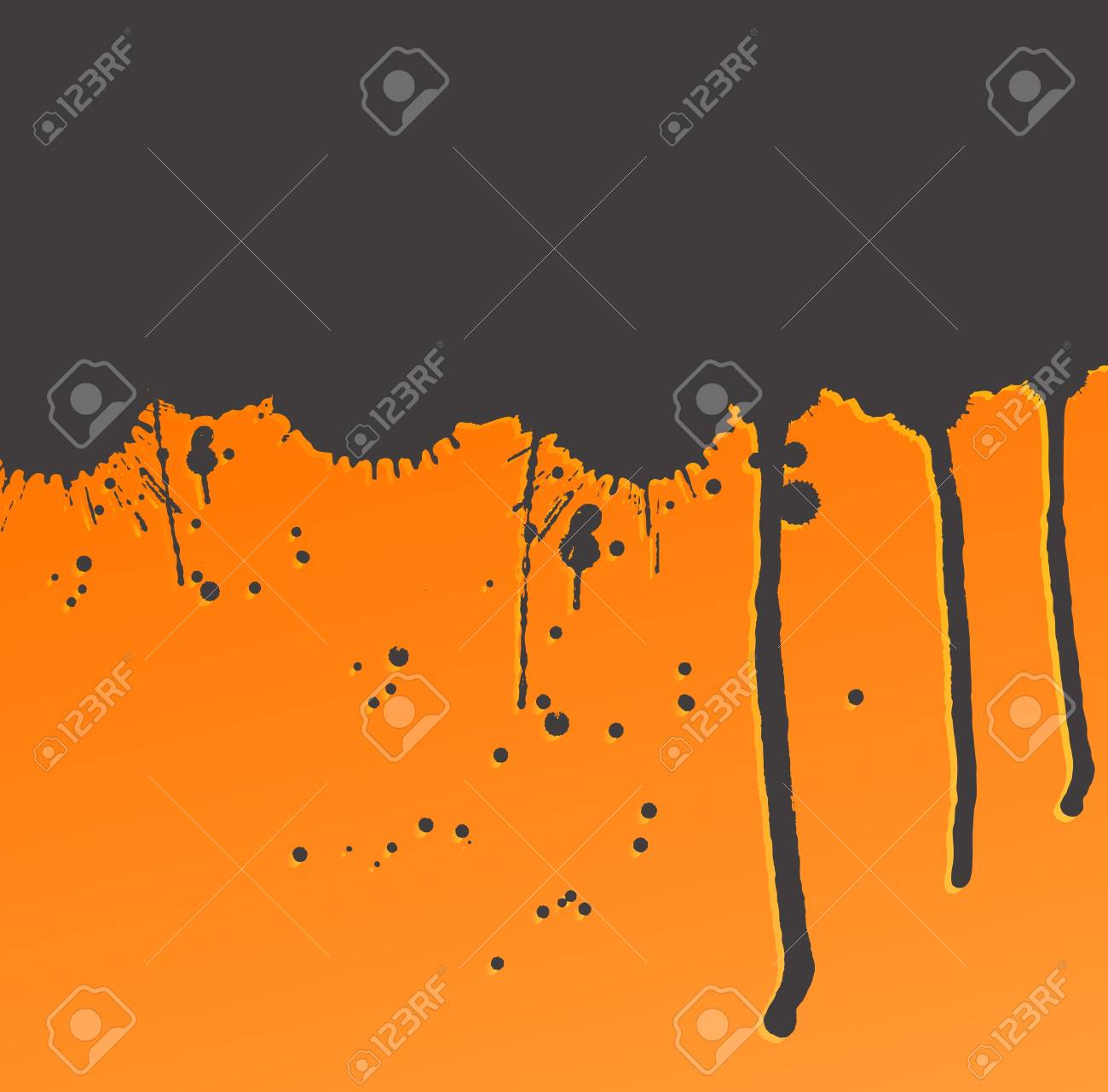 Colorful bright ink splashes on dark background vector Stock Vector - 15272118