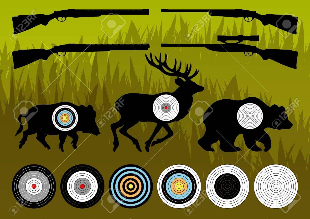 Shooting Range Silhouettes Shooting Range Wild Boar
