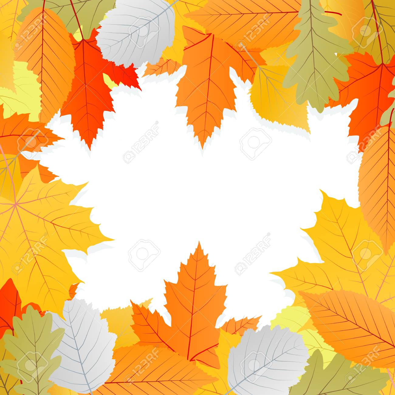 Leaves autumn vector background for poster or card Stock Vector - 16289192