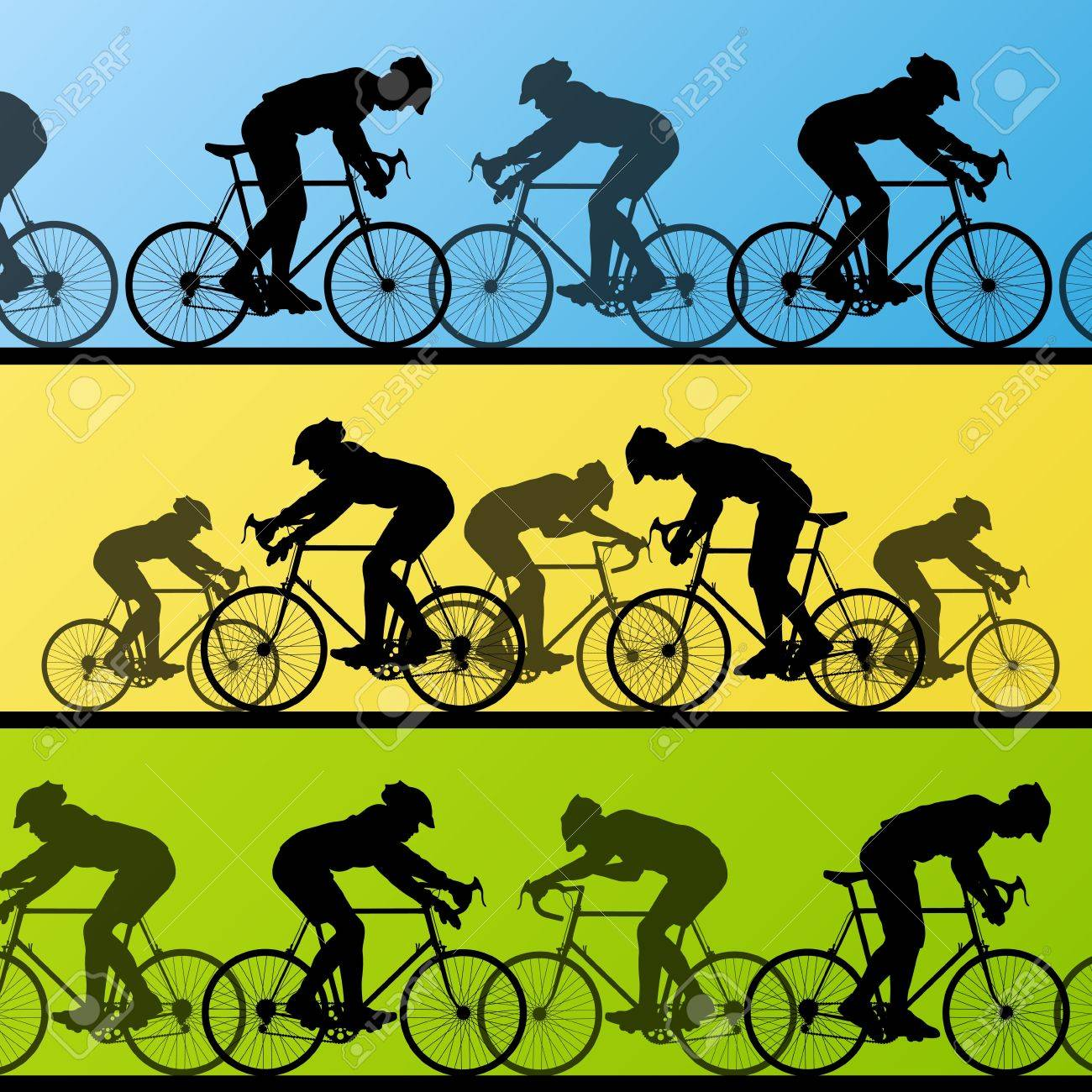 Cyclist leader winner background vector Stock Vector - 16289194