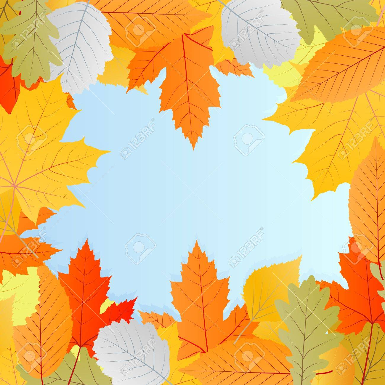 Leaves autumn vector background for poster or card Stock Vector - 16289193