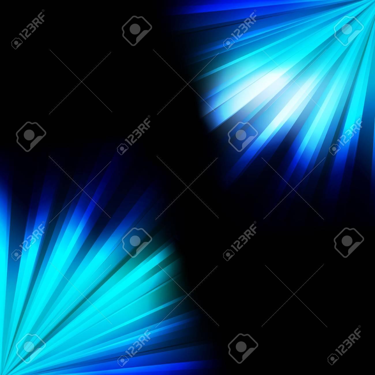 Blue burst light background for poster Stock Vector - 16932747