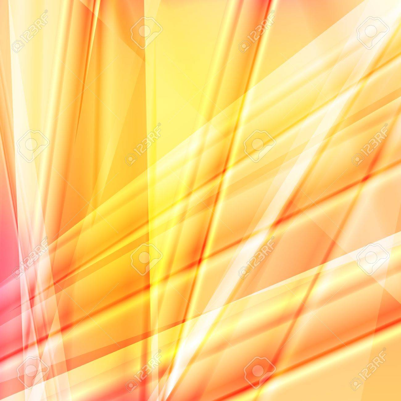 Yellow and orange lines abstract vector background concept Stock Vector - 17408019