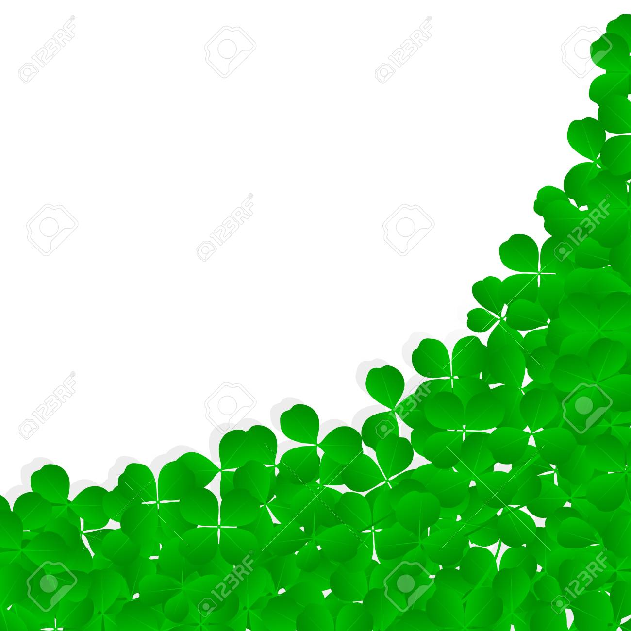 Irish four leaf lucky clovers happy St. Patrick's day background vector Stock Vector - 17871170