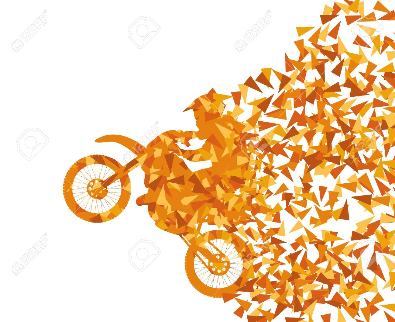 Motorcycle abstract background vector concept Stock Vector - 18580958